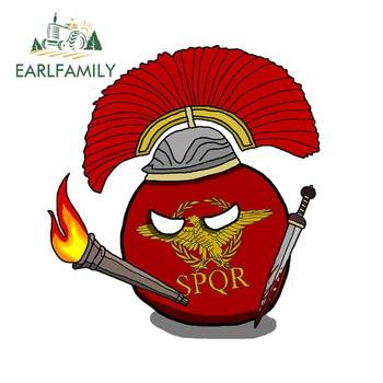 EARLFAMILY 13cm x 12cm for SPQR Weapon Fire Bomb Bumper Trunk Car Stickers Personality Windows Anime Decal Anime Vinyl Car Wrap image