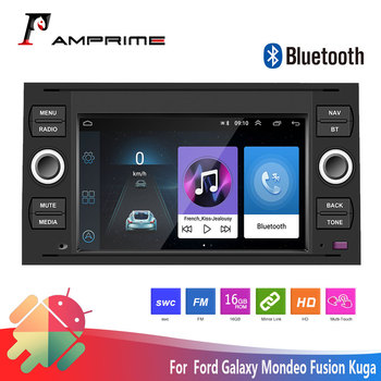 AMPrime Android 7inch Car Radio Multimedia Player For Transit Fiesta Focus Galaxy Mondeo Fusion Kuga C-Max S-Max 2 din Autoradio image