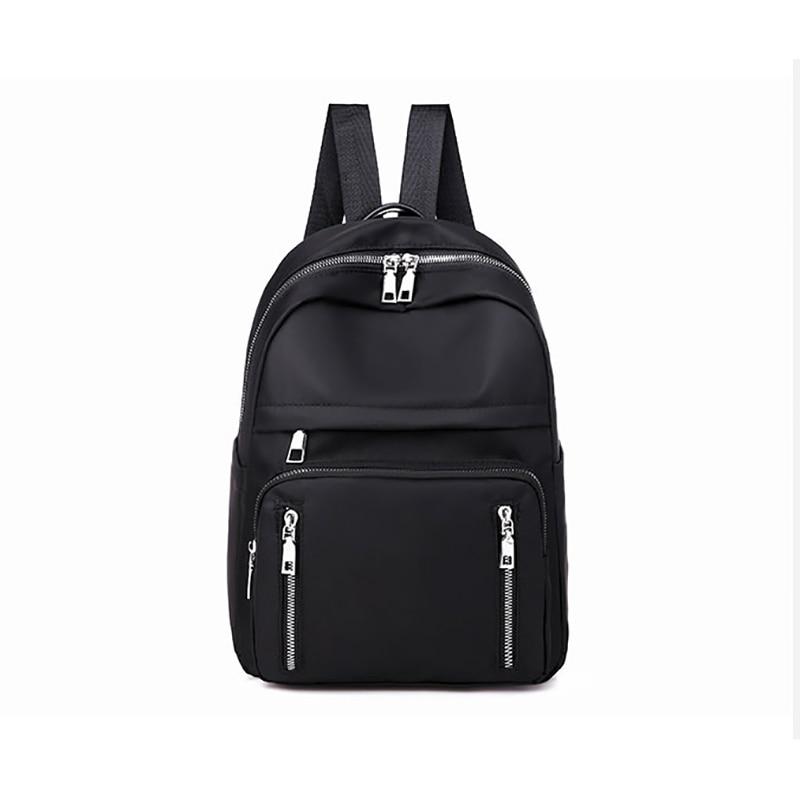 Backpacks Women Casual Rucksack Nylon School Shoulder Bag Waterproof Backpack For Teenage Girls Black Student Back Pack Lady