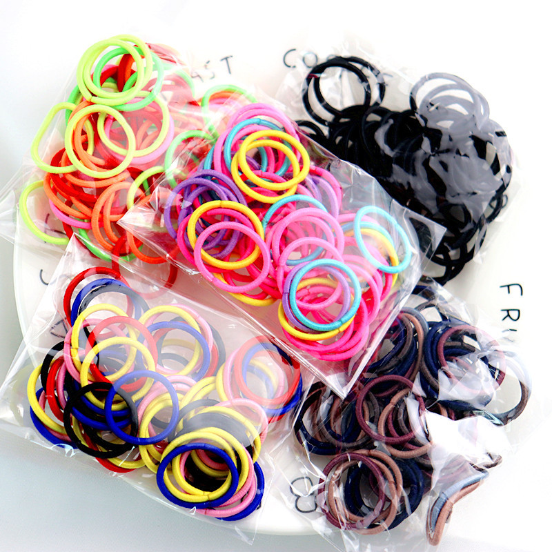 50 Pcs High Elastic Hair Rope Durable Rubber Bands Hair Ring Head Rope Headdress Women Girls Hair Bands
