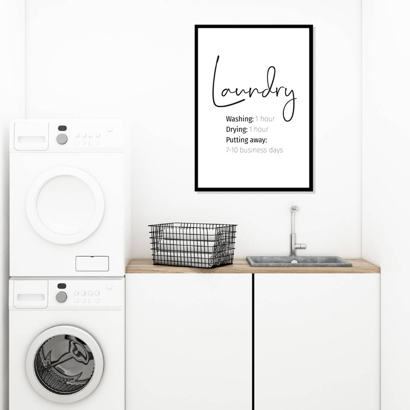Laundry Print Laundry Room Decor Funny Laundry Signs Typography Poster Wall Art Picture Canvas Painting Minimalist Decoration Painting Calligraphy Aliexpress