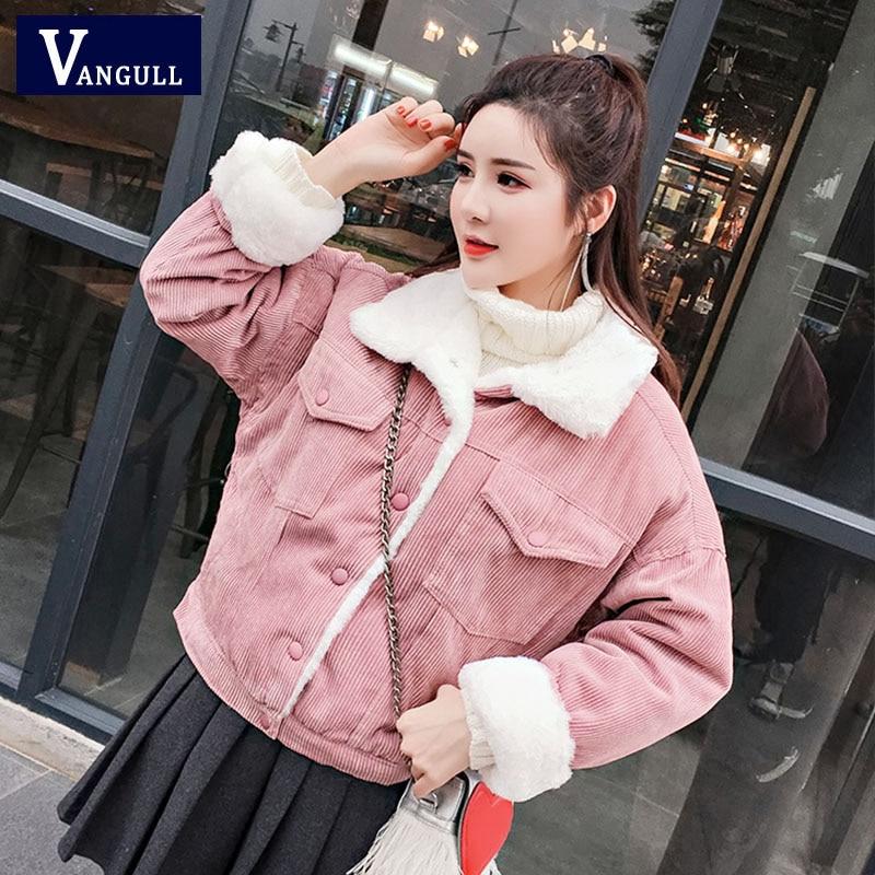Women corduroy tailor made jackets Ladies Winter Warm Outwear Size XL
