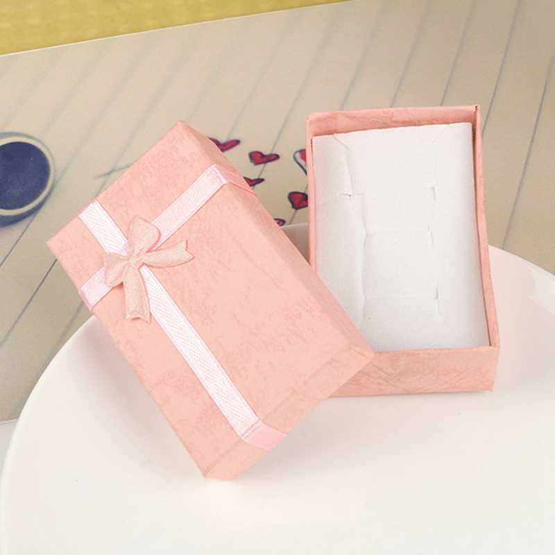1 шт. картонные коробки для ювелирных украшений Упаковка серьга, ожерелье, подвеска кольцо коробка подарок на день Святого Валентина
