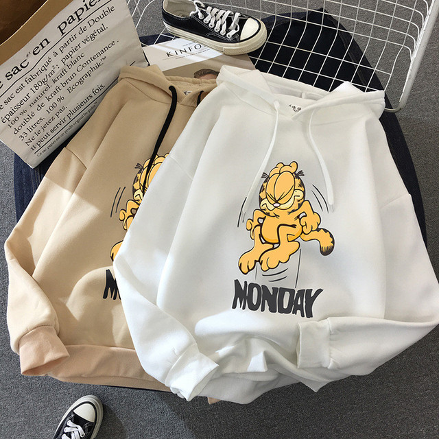 autumn and winter clothing Garfield size Harajuku long-sleeved hoodie female loose women's sweatshirt hoody dropshipping album