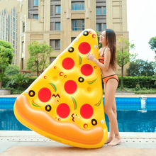 Pool Pizza Swimming-Mattress Inflatable Floating-Bed Water-Toys Party Children