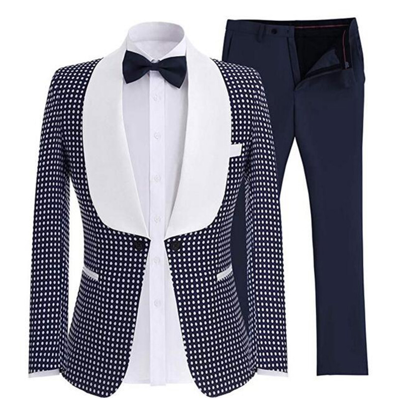 Men S Two Piece Suits One Button Blazer Wool Navy Blue Business Gentle Men Suits Prom Suits For Men Wedding Best Man Tuxedo Suits Aliexpress