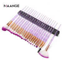 MAANGE 10/20Pcs Makeup Brushes Set Diamond Powder Eye Shadow Foundation Concealer Blush Lip Cosmetics Make Up Beauty Brush Tool