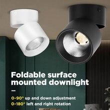 Reflektory LED składane miejsca lekka powierzchnia lampy Led lampa 220V 5/10/15/25W do oświetlenia domu sypialnia kuchnia