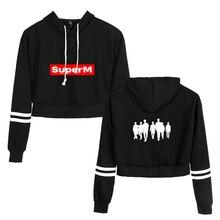 K-POP SuperM Cropped Hoodies