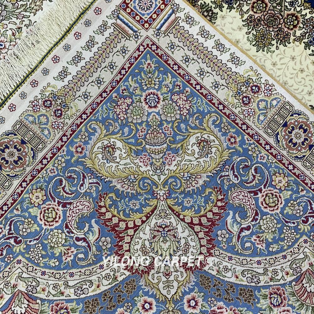 Yilong 6'x9 'karpet sutera Turki poket tradisional sutera tangan - Tekstil rumah - Foto 6