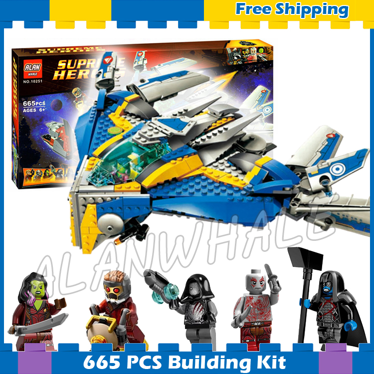 665pcs Super Heroes Guardians Of The Galaxy Milano Spaceship Rescue 10251 Model Building Blocks Gifts Sets Compatible With Lago
