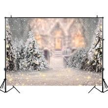 NeoBack Winter Snowflake Bokeh Photography Backdrops Jungle Chalet Fairy Tale Backdrop Newborn Baby Kids Background
