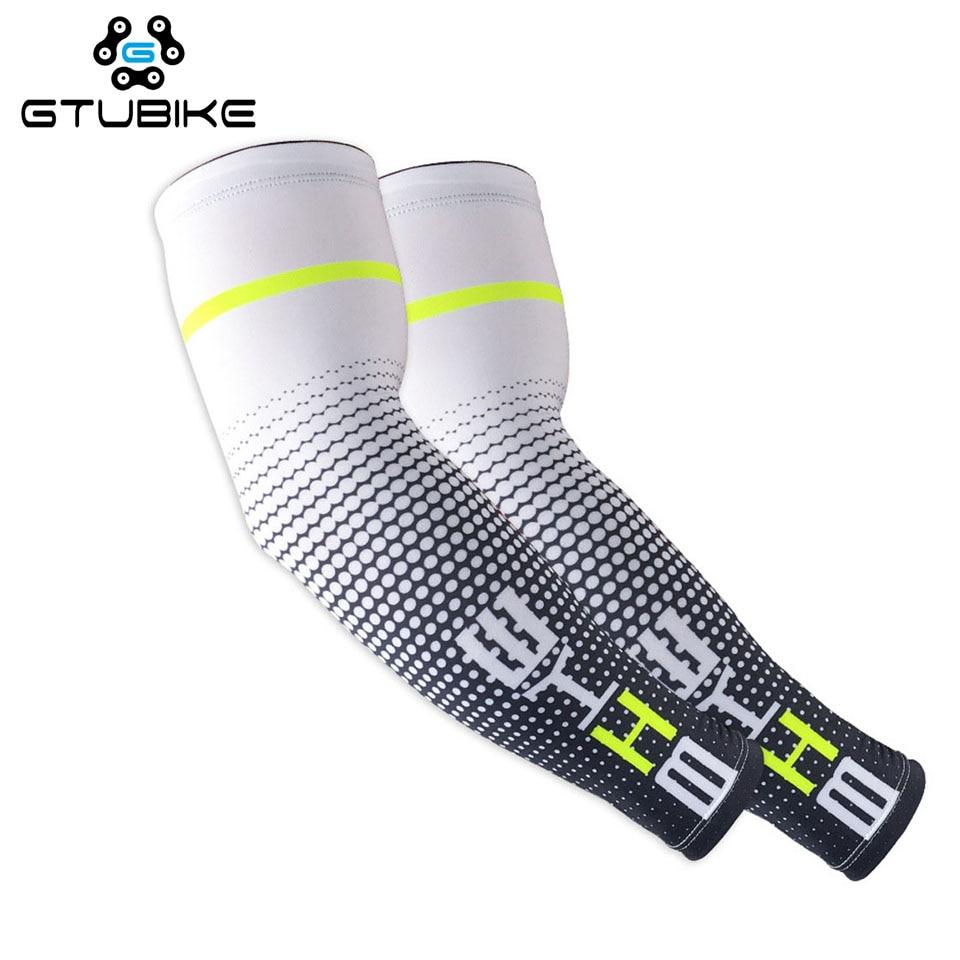 2 Pcs/lot Cycling Arm Sleeves Sport Sun UV Protective Cuff Basketball Arm Warmer Manguitos Ciclismo Brazo Hombre