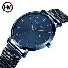 Мужские часы высококлассные японские Кварцевые водонепроницаемые
