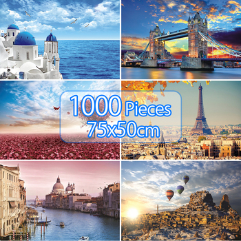 Jigsaw Puzzles 75*50cm Educational Toys Scenery Puzzle 1000 Pieces Educational Puzzle Toy for Kids/Adults Puzzles birthday Gifts 1000 pieces jigsaw puzzles educational toys scenery space stars educational puzzle toy for kids birthday gift stickers