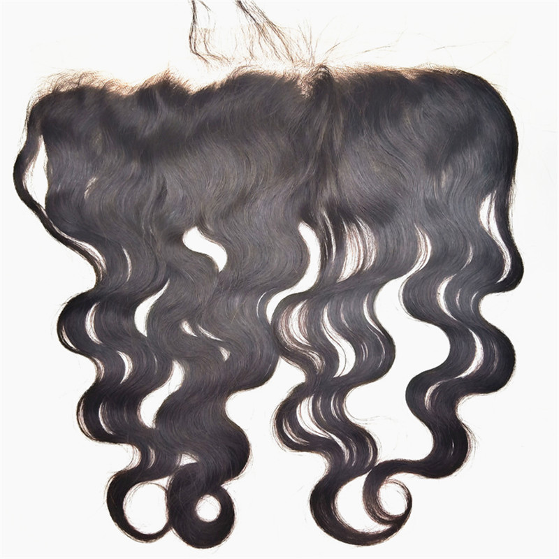 Virgin Human Hair Bundle With Body Wave Lace Closure Free Part Human Hair Closure