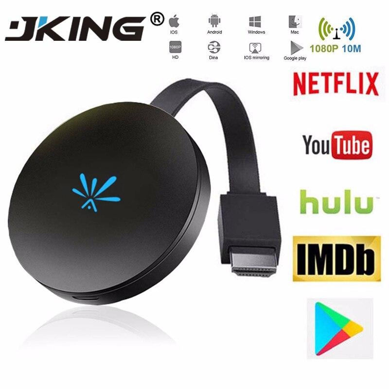 JKING G6 TV Stick 2.4GHz Video WiFi Display Dongle HD Digital HDMI Media Video Streamer TV Dongle Receiver For Chromecast 2