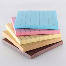 3PCSOffice Stationery Sticky Notes Square Soild Color Memo Pad 80 Pages Sticker Bookmark Point It Marker Memo Sticker Paper