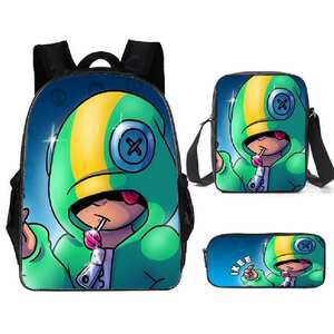 School-Bag Shell-Game Hot-Game-Backpack Spike Supplier Teenager Girls 3pcs-Sets Boys