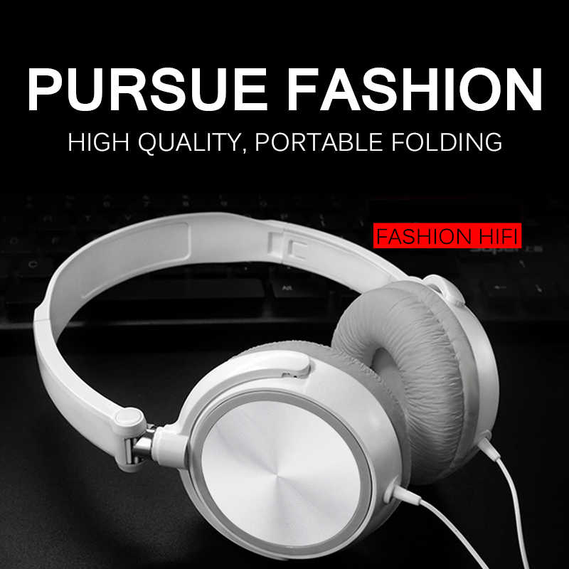 3.5Mm Wired Hoofdtelefoon Ronde Interface Over Ear Opvouwbare Headsets Bass Hifi Sound Music Stereo Oortelefoon 2020 Hot