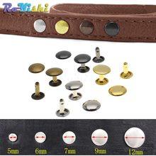 100 pz/set rivetti a doppio cappuccio in metallo rivetti a perno collisione chiodo in metallo Spike in pelle riparazione artigianale 4 colori