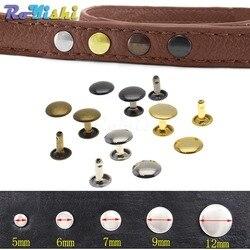 100pcs/set Metal Double Cap Rivets Stud Rivets Collision Nail Metal Spike Leather Craft Repair 4 Colors