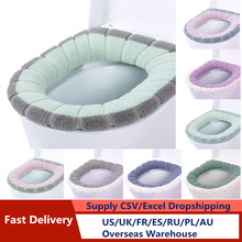 Mat-Set Cover-Accessories Closestool-Mat Seat-Case Toilet-Lid Washable Warm Soft
