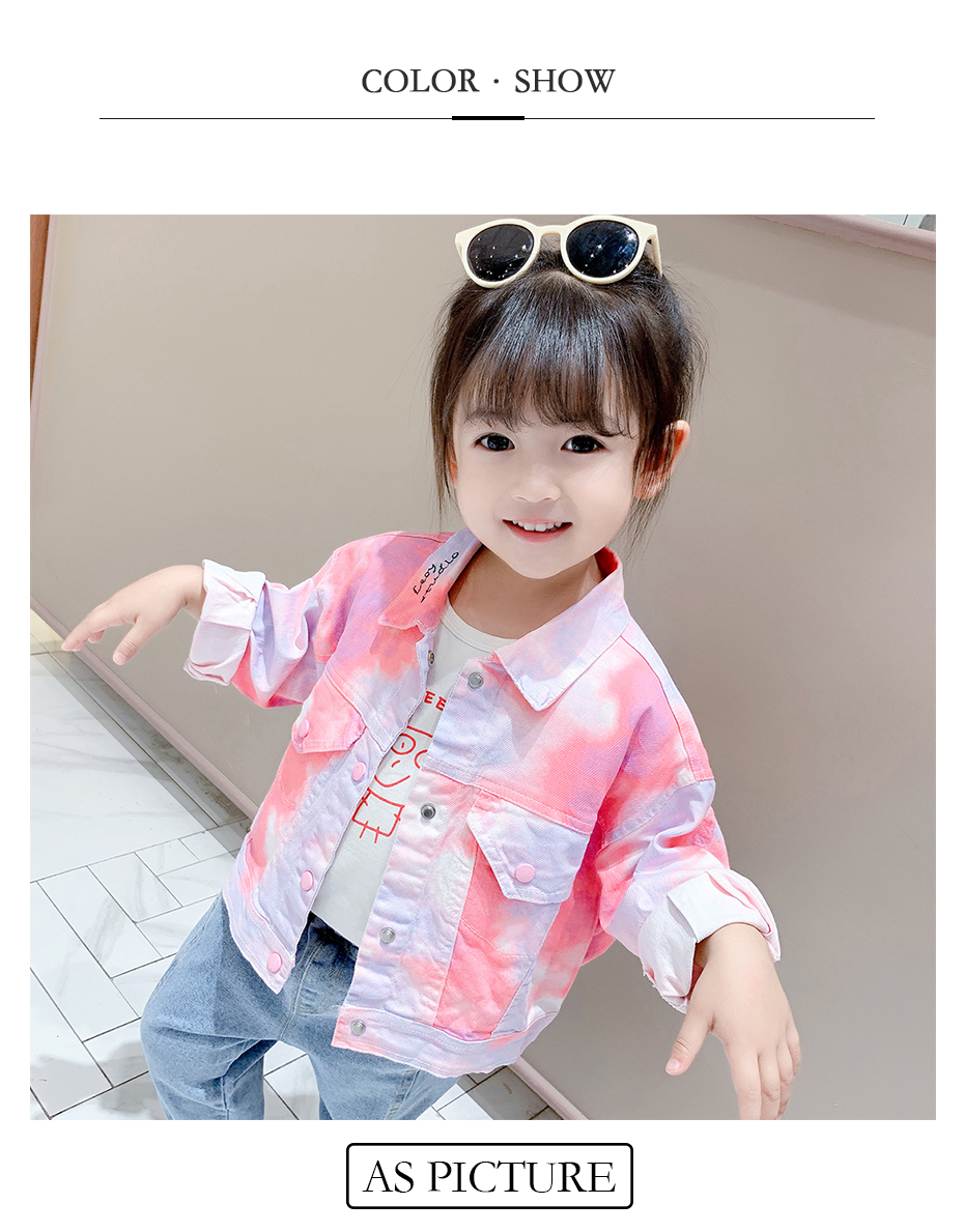 Girls Coat Floral Pattern Coat For Girls Letter Children's Coats Casual Style Clothes Girl 6 8 10 12 14