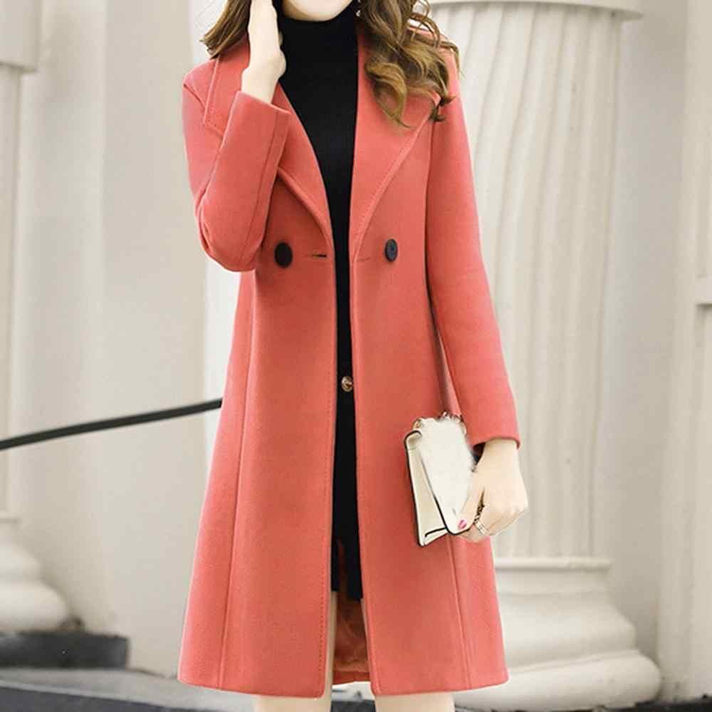 Casaco de inverno feminino, casaco resistente de trabalho para inverno e escritório com manga comprida
