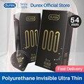 Презервативы Durex секс 54 мм 001, невидимые ультратонкие полиуретановые нелатексные презервативы для пениса, товары для взрослых, секс-игрушки,...