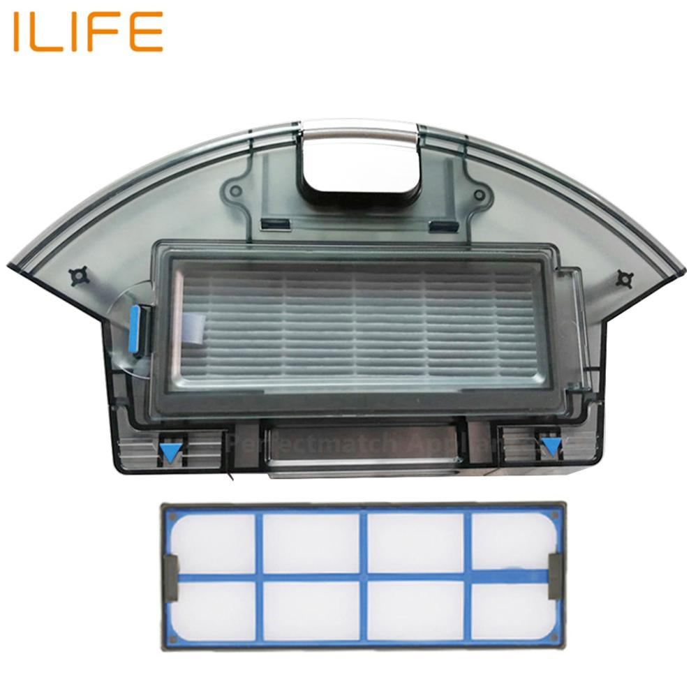 Vacuum robot Cleaner Replacement clean parts Tool Filter brush Dust Box For Ilife A6 A8 ILIFE X620 X623