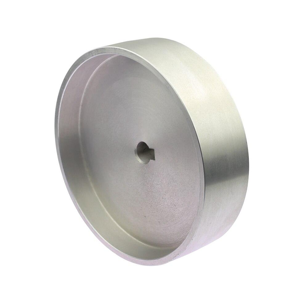 200*54*24/19mm Volledig Aluminium Riem Grinder Loopwiel Roller Rijden Wiel met 10 * 6mm Sleutel Slot - 3