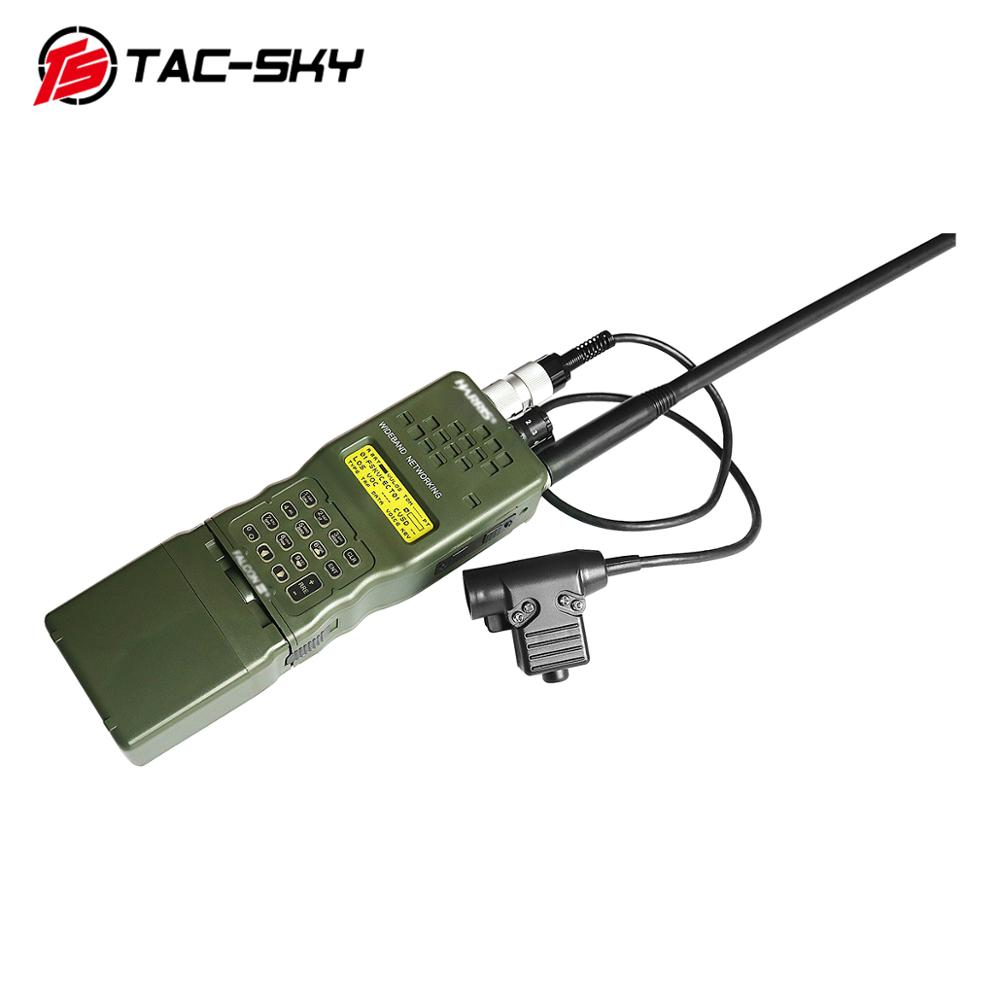 TAC-SKY Harris AN / PRC 152 152a Military Radio Walkie-talkie Model Harris Virtual Case + Military Headset Ptt 6 Pin U94 Ptt