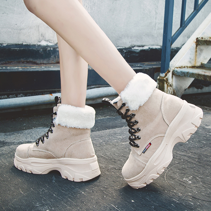 Damyuan Women's Shoes Women's Snow Boots2019 Popular Flat Heel Boots Fashion Women's Boots Warm Plush Winter Shoes Women's Boots