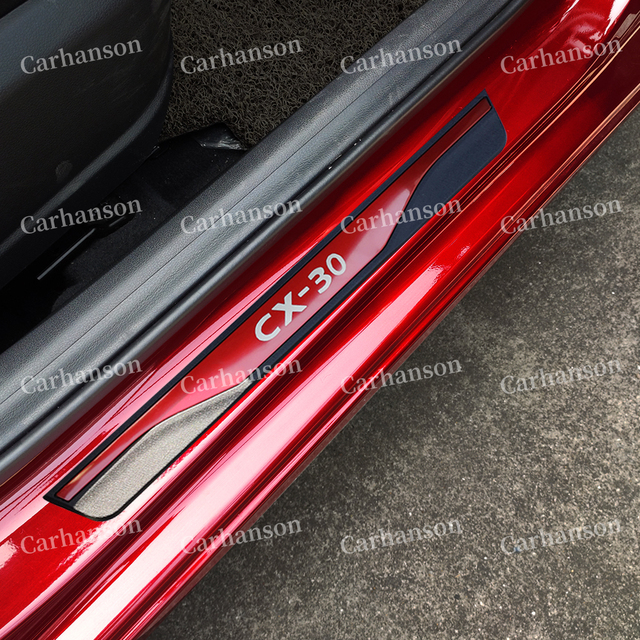 Acessórios da capa do peitoril da porta do carro para mazda Cx 30 cx30 cx 30 protetor de pedal scuff aço inoxidável estilo adesivo 2019 2020