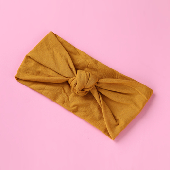 Sweet Baby Girls Headband Solid Color Hair Band Knitted Bow Head Band Elastic Turban Kids Headwrap Newborn Baby Hair Accessories diy girls grosgrain ribbon bow headband kids head bands headdress big bowknot ties headwrap hair accessories newborn baby turban