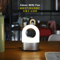 Xdoor mini ventilador de desktop purificação ar atmosfera proteção para os olhos lâmpada anion alta eficiência três camada filtro|Umidificadores|   -