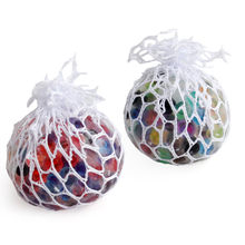 Новинка, игрушки для детей и взрослых, Радужный сетчатый мяч для снятия стресса, светящиеся сжимаемые игрушки в виде винограда, снятие стрес...