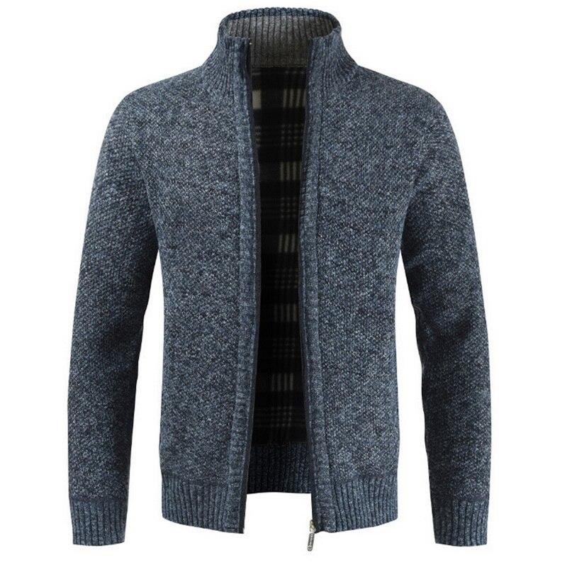 MJARTORIA Men Warm Thick Fashion Business Casual Sweater Cardigan Men Brand Slim Fit Knitwear Outwear Warm Winter Sweater Jumper