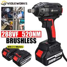 288VF 1/2inch 520 N.M Brushless Cordless Electric Impact Wrench Power Tool With 19800mAh Li-ion Battery For Makita 18V Battery