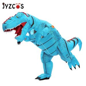 Image 4 - JYZCOS Dinosaur T REX Inflatable Costume for Women Men Kid Carnival Costume Halloween Cosplay Costume Mascot Party Purim Costume