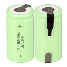 2 ~ 16 sztuk sub c sc akumulator nicd 1.2 v bateria 1300mAh ni cd akumulator baterie 1.2 v zielony