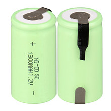 Lot de 2 à 16 batteries rechargeables nicd 1.2 v, 1300mAh, 1.2 v, vert