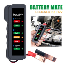 1pc Mini 12V Car Battery Tester Digital Alternator Tester 6 LED Lights Display Auto Diagnostic Tool Auto Battery Tester 12v car motorcycle digital battery alternator load tester 6 led display vehicle battery tester free shipping