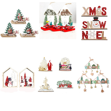2020 New year DIY christmas tree decorations xmas items gifts wooden snowman ornaments for the house BZ987