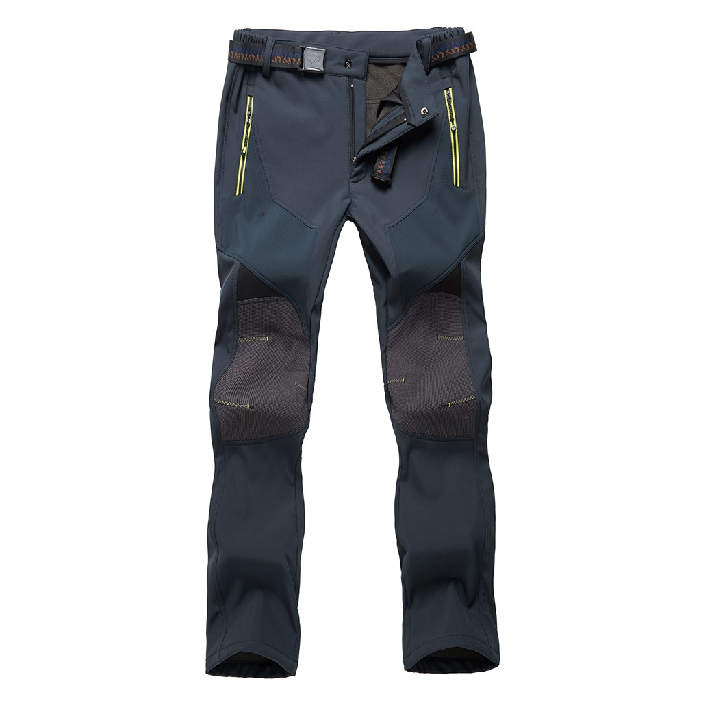 SAGACE Straight Type Men's Down-Thickened Waterproof Windproof Outdoor Camping Mountain-Climbing Charger Pant Keep Warm
