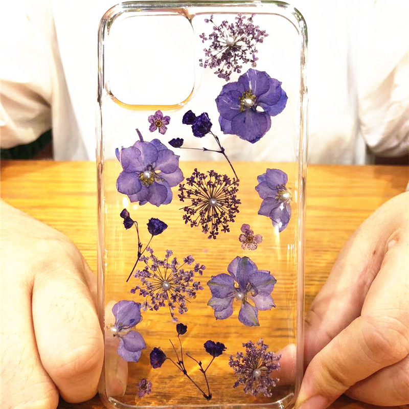 Real Dried Flowers Clear TPU Case for iPhone 11/11 Pro/11 Pro Max 19