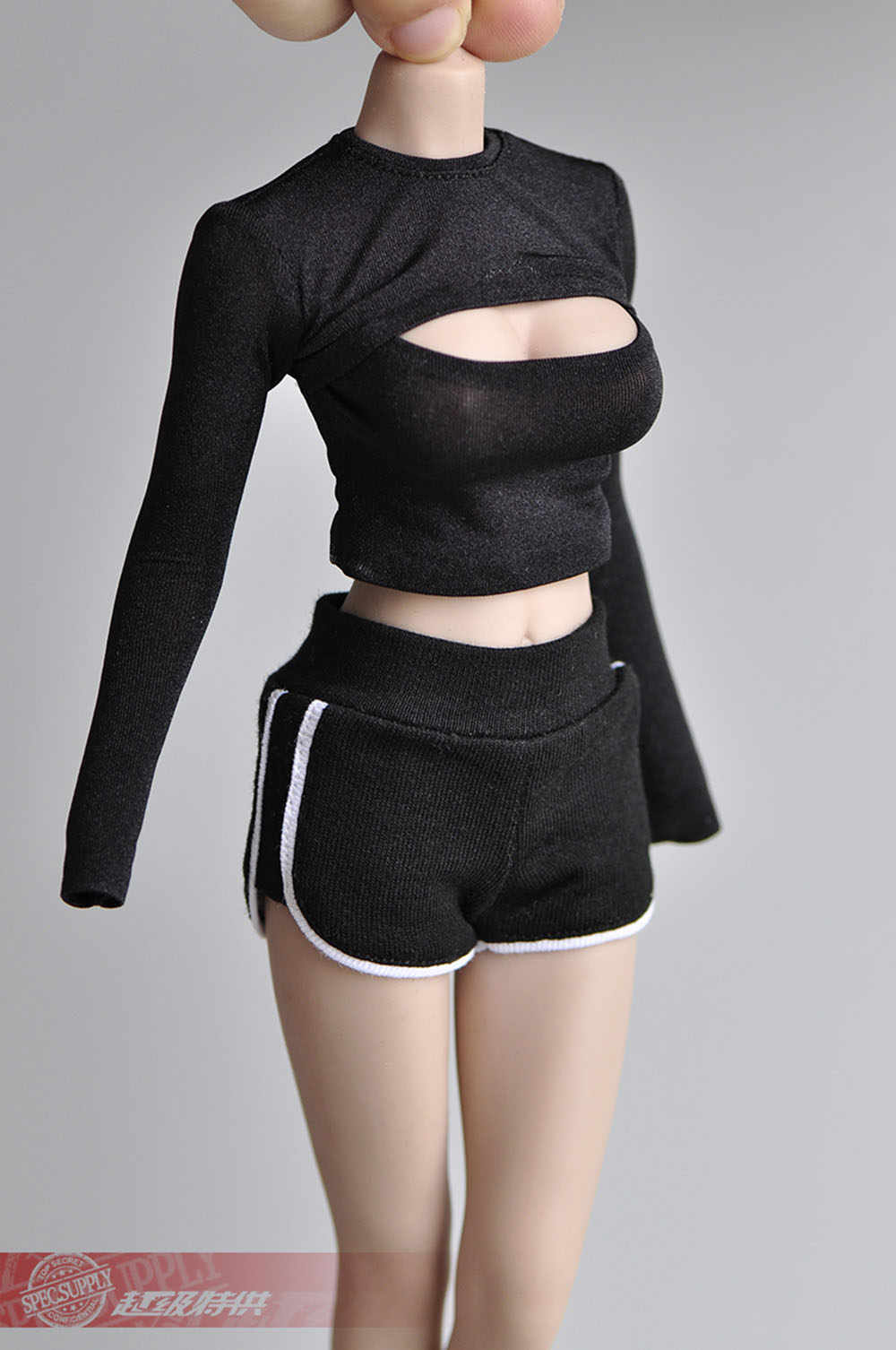 1//6 Puff Sleeve Pleated Top Short Sleeve T-shirt Model Fit 1//6 TBL Action Figure