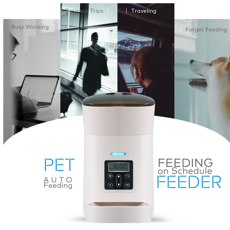 New Pet Feeder Pet Dispenser For Cat And Dog Travel Supply Automatic Smart slow Feeder Dispenser Fixed time amount of food