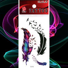 Peacock Colorful Feather Waterproof Tattoo Sticker Flying Bird Temporary Tatoo Body Art Arm Girl Women Fake Tattoos Flash Tatto(China)